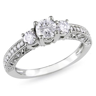 Miadora Signature Collection 14k White Gold 1ct TDW Diamond Engagement Ring