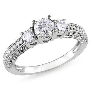 Miadora Signature Collection 14k White Gold 1ct TDW Diamond Engagement Ring