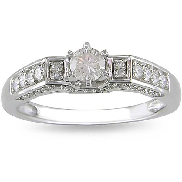 Miadora 14k Gold 1/2ct TDW Diamond Engagement Ring (H-I, I2-I3)