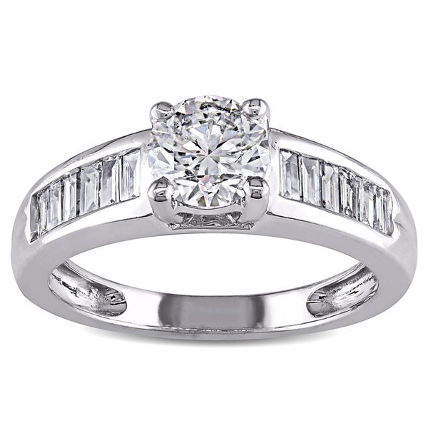 Miadora Signature Collection 14k White Gold 1ct TDW Diamond Engagement Ring (G-H, I1-I2)