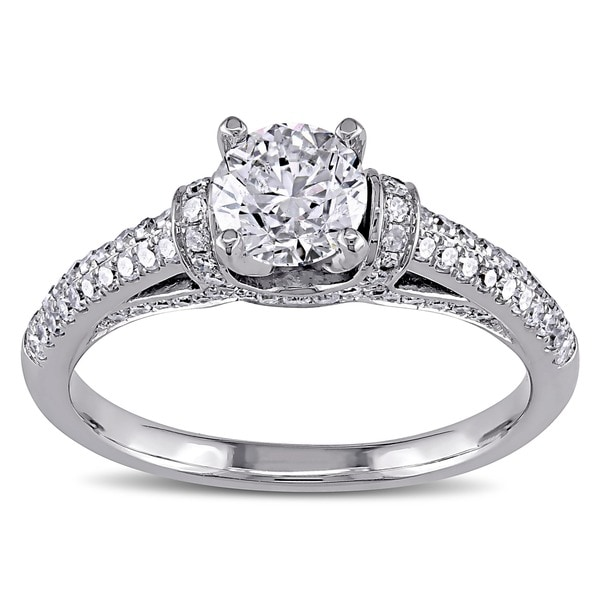 Miadora Signature Collection 14k White Gold 1 1/6ct TDW Diamond Engagement Ring (G-H, I1-I2)