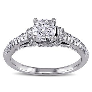 Miadora Signature Collection 14k White Gold 1 1/6ct TDW Diamond Engagement Ring