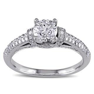 Miadora Signature Collection 14k White Gold 1 1/6ct TDW Diamond Engagement Ring