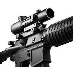 Barska 4x28 IR Mil-Dot Electro Sight Rifle Scope - Thumbnail 1