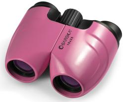 Barska 10x25 Pink Compact Focus-free Sport Binoculars with Pouch - Thumbnail 1