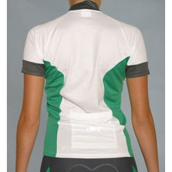 ETA Women's Short-sleeve Green/ White Cycling Jersey