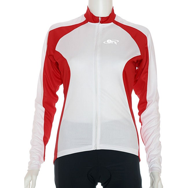 ETA Women's Long-sleeve Red/ White Cycling Jersey