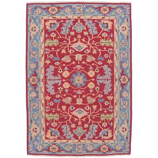Nourison Samarkand Flatweave Reversible Red Wool Rug (8'6 x 11'6)