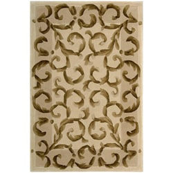"Nourison Hand-Tufted Versailles Palace Ivory Oriental Rug - 3'6"" x 5'6"" - Thumbnail 0"