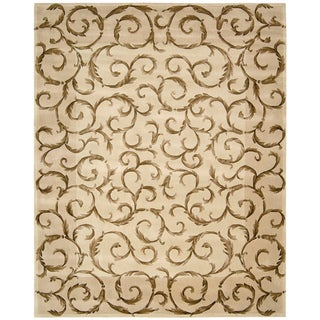 """Nourison Hand-Tufted Versailles Palace Ivory Wool Rug (5'3"""" x 8'3"""")"""