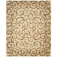 "Nourison Hand-Tufted Versailles Palace Ivory Wool Rug - 5'3"" x 8'3"""