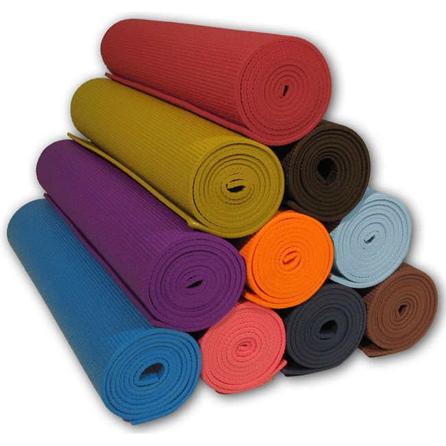 Deluxe 'Clean PVC' Eco-friendly 72-inch Yoga/ Pilates Mat - Thumbnail 0