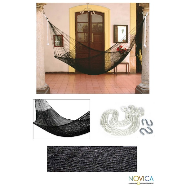 Hand-crafted Nylon Cool Shadows Hammock (Mexico)