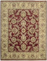 Nourison Hand-knotted Tajik Red/ Beige Wool Rug (7'9 x 9'9)