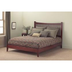 Fashion Bed Jakarta Queen-size Platform Bed (Mahogany - M...