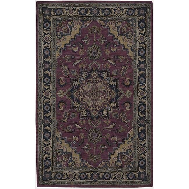 Nourison Hand-tufted Caspian Red Wool Rug (5' x 8')