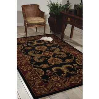 Nourison Hand-tufted Caspian Black Wool Rug (8' x 10'6)