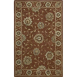 Nourison Hand-tufted Caspian Rust Brown Wool Rug (3'6 x 5'6)