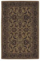Nourison Hand-tufted Caspian Gold Wool Rug (3'6 x 5'6) - Thumbnail 2