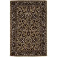"Nourison Hand-tufted Caspian Gold Wool Rug (3'6 x 5'6) - 3'6"" x 5'6"""