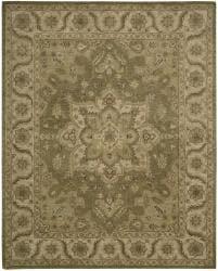 Nourison Hand-tufted Caspian Olive Wool Rug (3'6 x 5'6) - Thumbnail 1