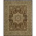 Nourison Hand-tufted Caspian Brown Floral Rug (8' x 10'6) - 8' x 10'6