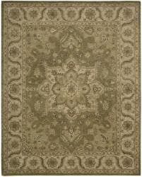Nourison Hand-tufted Caspian Olive Wool Rug (8' x 10'6) - Thumbnail 2