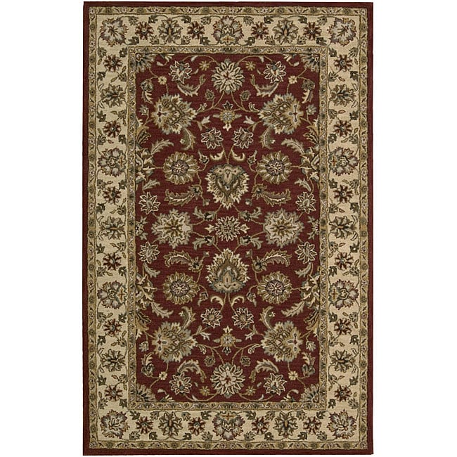 "Nourison Hand-Tufted Caspian Red Oriental Wool Rug (3'6"" x 5'6"")"