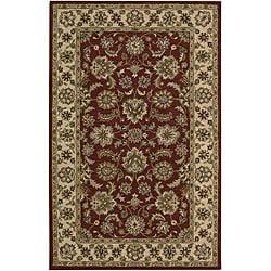 "Nourison Hand-Tufted Caspian Red Oriental Wool Rug (3'6"" x 5'6"")"