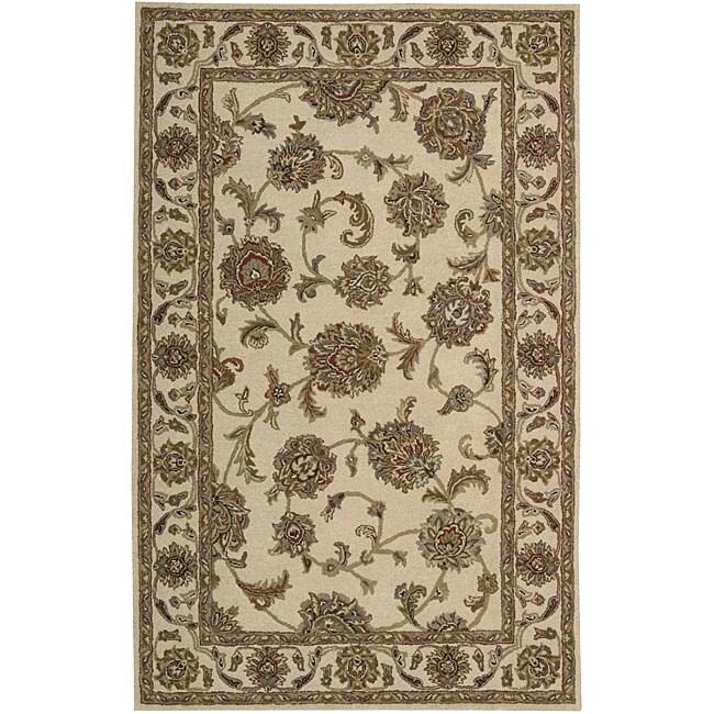 Nourison Hand-tufted Caspian Ivory Wool Rug (3'6 x 5'6)