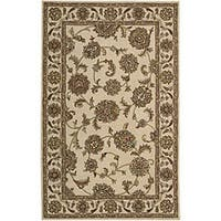 Nourison Hand-tufted Caspian Ivory Wool Rug (3'6 x 5'6) - 3'6 x 5'6