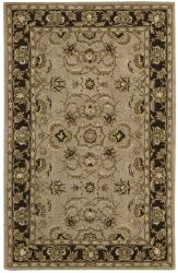 Nourison Hand-tufted Caspian Taupe Wool Rug (8' x 10'6) - Thumbnail 1