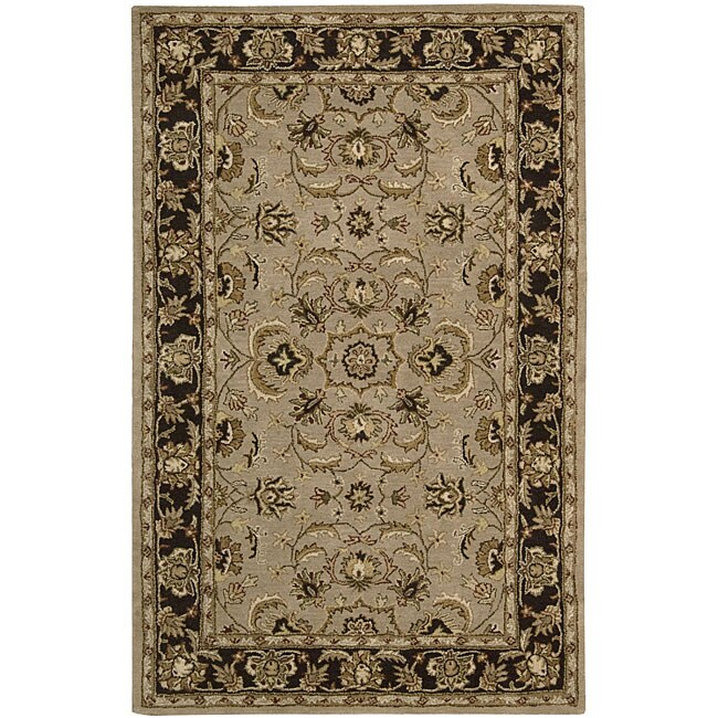 Nourison Hand-tufted Caspian Taupe Wool Rug (8' x 10'6)