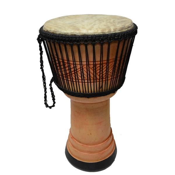 Handcrafted 'Adowa' Djembe/ Bongo Drum (Ghana)