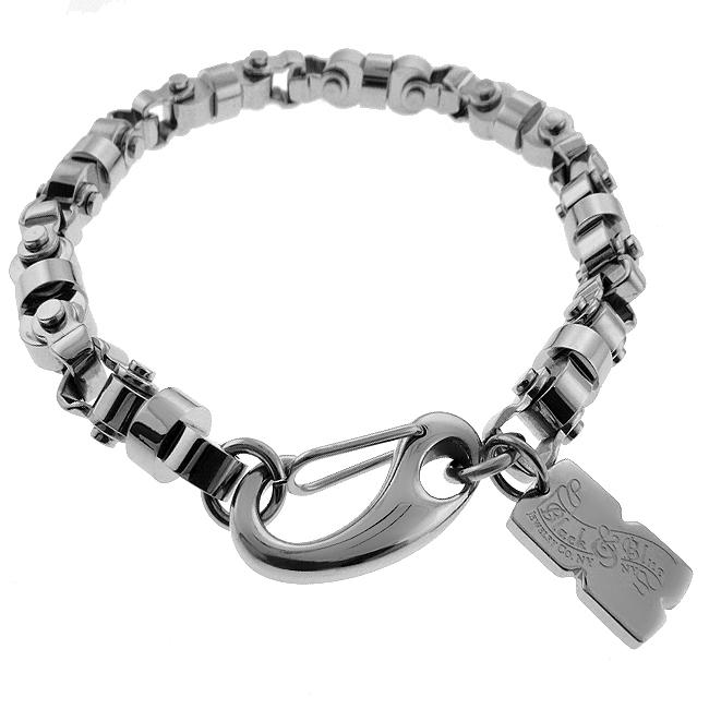 Black And Blue Jewelry Stainless Steel Men X27 S Chain Bracelet