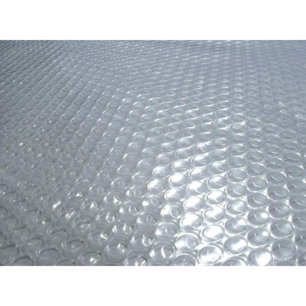 Blue Wave 12 ft. x 24 ft. Oval 12-mil Solar Blanket for Above Ground Pools - Clear