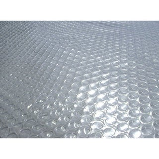 Blue Wave 18 ft. x 40 ft. Oval 12-mil Solar Blanket for Above Ground Pools - Clear