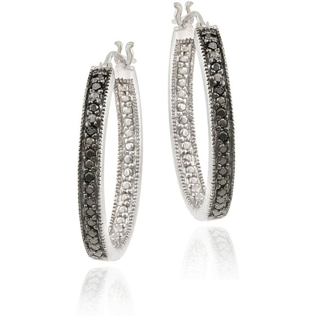 31499 Fashionable Antique Polished Gold Open Hoop /& Sterling Silver Wire Wrap Accented Long Drop Earrings