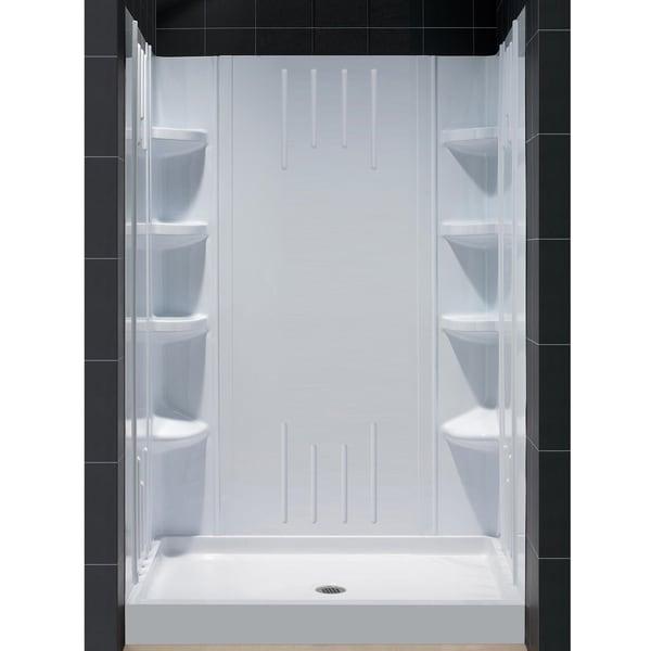 DreamLine Back Walls and 48x36-inch Base Shower Kit