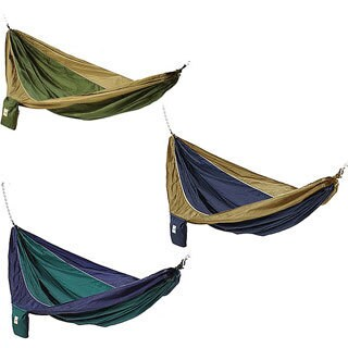 Parachute Silk Two-person Hammock with Stuff Sack (Option: Blue)