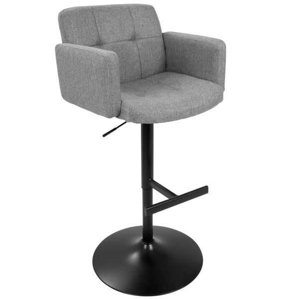 Stout Contemporary Bar Stool in Black Faux Leather