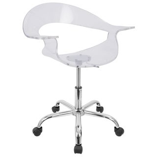 LumiSource Rumor Clear Acrylic Office Chair
