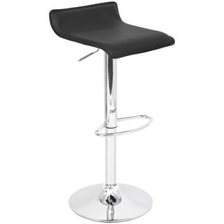 Ale Black Hydraulic Bar Stool