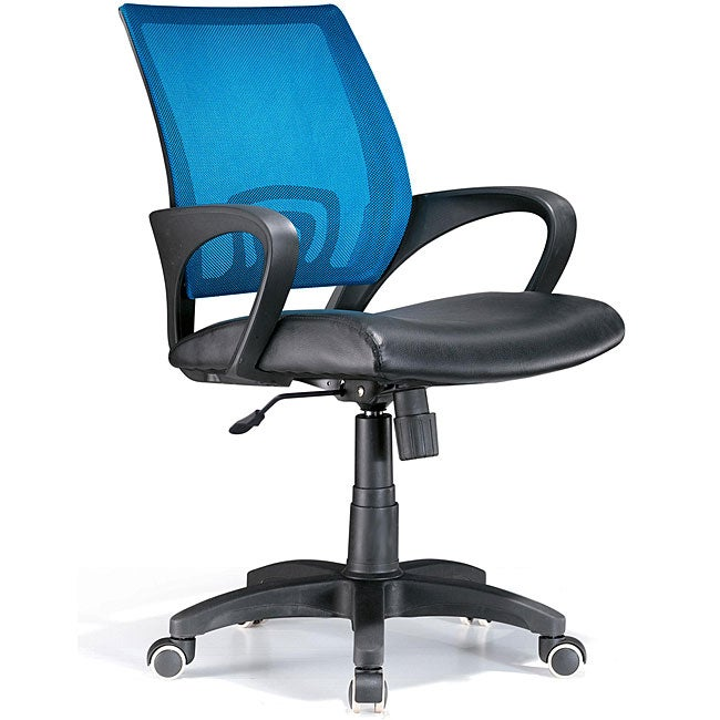 Leatherette Blue Office Chair