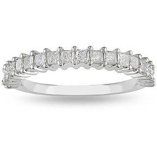 Miadora 14k White Gold 3/4ct TDW Diamond Anniversary Ring (H-I, I2-I3)