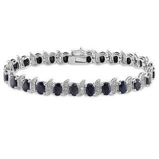 Link to Miadora Silver Created Gemstone and Diamond Accent Tennis Bracelet Similar Items in Bracelets