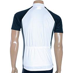 ETA Men's Short-sleeve White/ Black Cycling Jersey - Thumbnail 1
