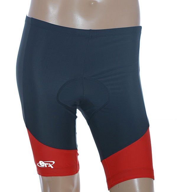 ETA Men's Black/Red Cycling Shorts