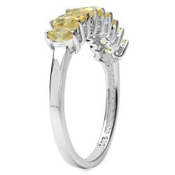 Malaika Sterling Silver Marquise-cut Citrine Ring
