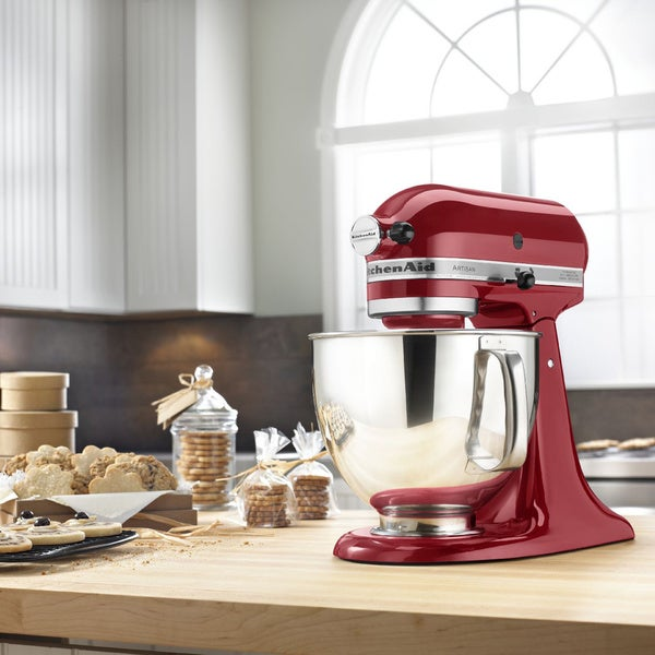 KitchenAid KSM150PSER Empire Red 5-quart Artisan Tilt-Head Stand Mixer with $30 Rebate